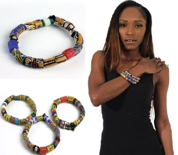 AfricaImports-Ghana Trade Bead Bracelet