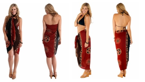 Abstract tiki sarong