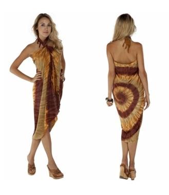 Brown Swirl Sarong